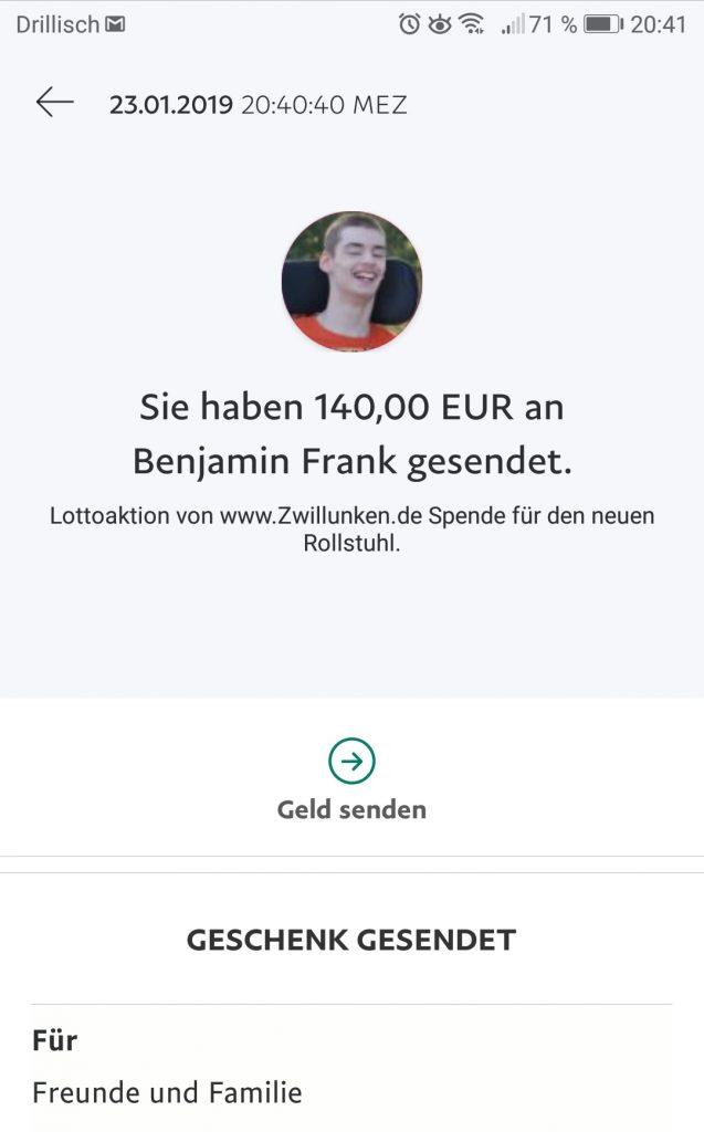 Spende Benny