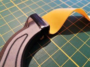 Black Amber Belt - saubere Anbindung an der Gabel